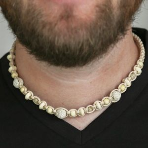 Other - Wooden beads & white lava stone necklace